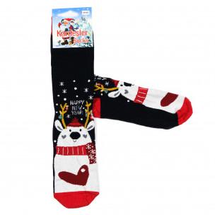 Мъжки тъмносини коледни чорапи