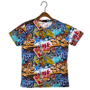 Мъжка тениска с комикси Style