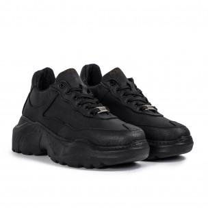 Мъжки черни маратонки Chunky All black Knack 2