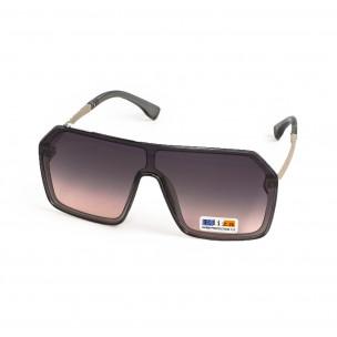 Кафяви опушени очила тип маска Hexagon 2