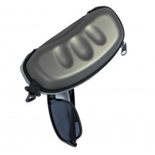 Калъф за очила сив металик 2