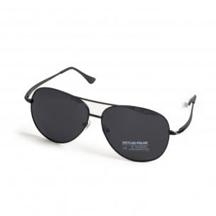 Basic пилотски слънчеви очила в черно 2