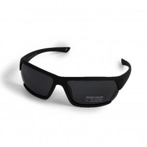 Черни спортни очила с детайл 2