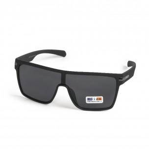 Трапецовидни черни очила тип маска 2