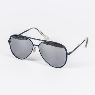 Огледални слънчеви очила синя метална рамка