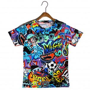Мъжка тениска с комикси Graffiti