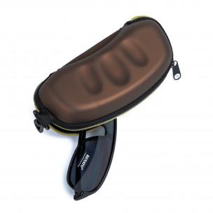 Калъф за очила кафяв металик 2