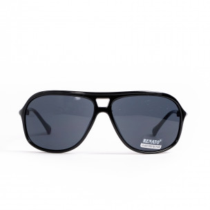 Черни слънчеви очила с детайл