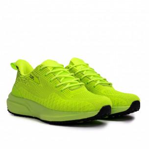 Текстурирани маратонки неоново зелено  2