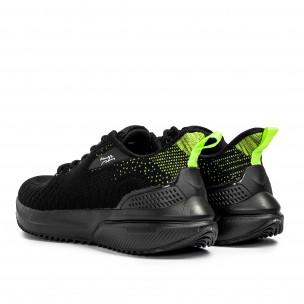 Текстурирани мъжки маратонки в черно  2