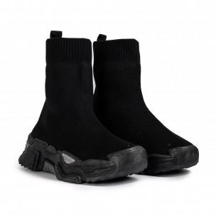 Chunky черни високи маратонки тип чорап Fashion&Bella 2