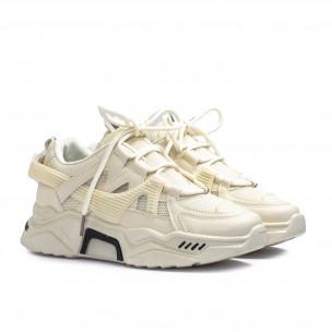 Chunky дамски маратонки цвят екрю Sweet Shoes 2