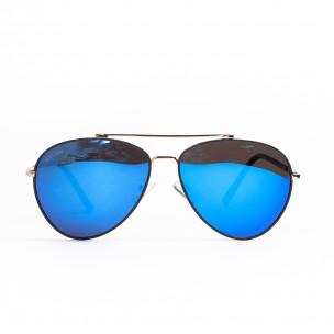Пилотски слънчеви очила сини огледални