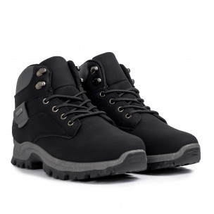 Мъжки трекинг обувки в черно и сиво 2