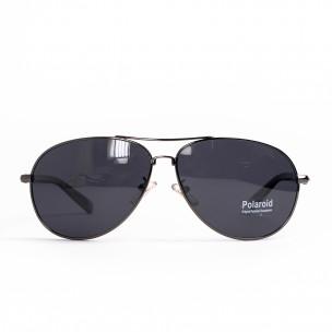 Пилотски слънчеви очила сива метална рамка