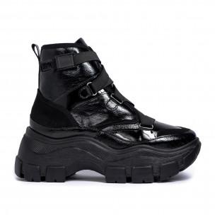 Chunky черни спортни боти с ластици