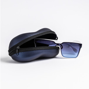 Калъф за очила син металик 2