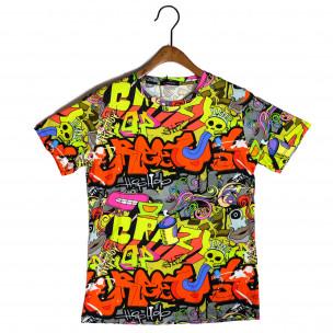 Мъжка тениска с комикси Crazy Made in Italy 2