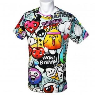 Мъжка тениска с комикси Yourmind Made in Italy