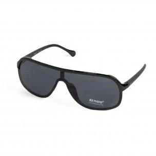 Очила овални тип маска в черно 2