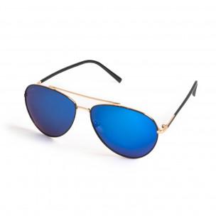 Пилотски слънчеви очила сини огледални 2