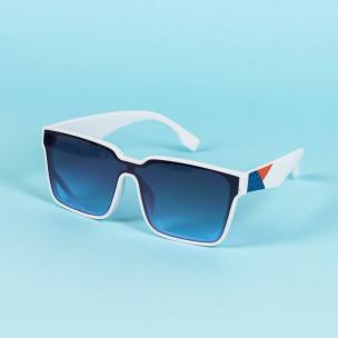 Трапецовидни слънчеви очила бяла рамка