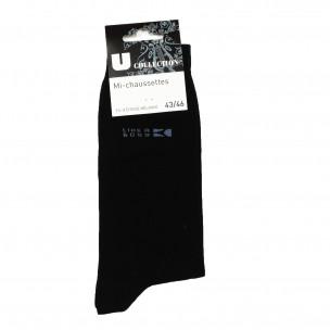 Мъжки памучни черни чорапи