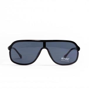 Очила овални тип маска в черно