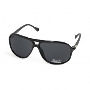 Черни слънчеви очила с детайл 2
