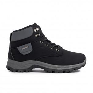 Мъжки трекинг обувки в черно и сиво