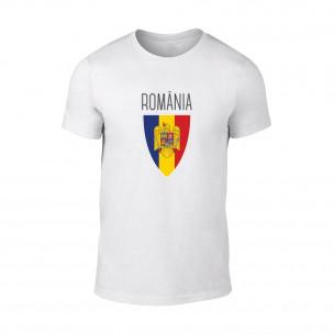 Мъжка бяла тениска Romania