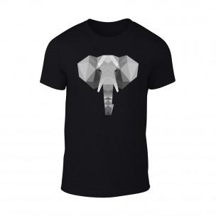 Мъжка черна тениска Elephant