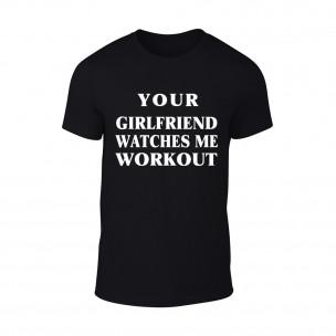Мъжка черна тениска Girlfriend