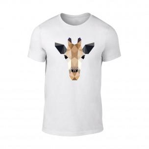 Мъжка бяла тениска Giraffe