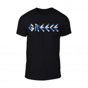 Мъжка черна тениска Greece