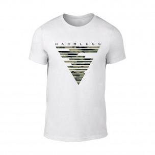 Мъжка бяла тениска Harmless