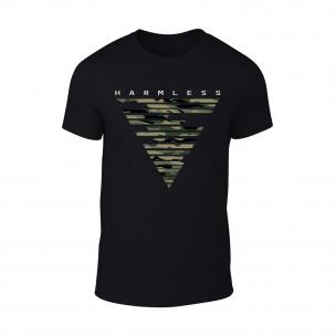 Мъжка черна тениска Harmless