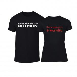 Тениски за двойки We Are Hoping черни TEEMAN