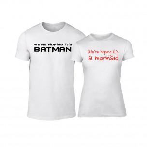 Тениски за двойки We Are Hoping бели TEEMAN