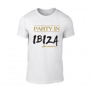 Мъжка бяла тениска Ibiza