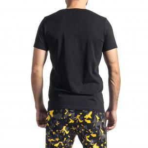 Мъжка черна тениска Barcode 2
