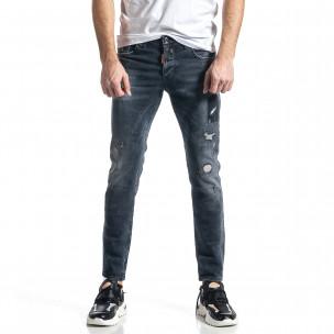 Мъжки сиви дънки Destroyed Paint