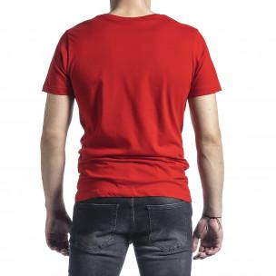 Мъжка червена тениска My Story  2