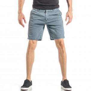 Мъжки сини къси панталони на точки