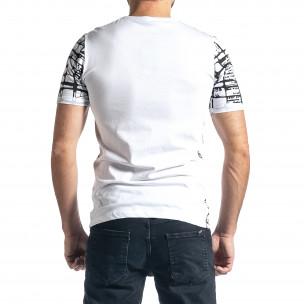 Мъжка тениска Raster в бяло 2