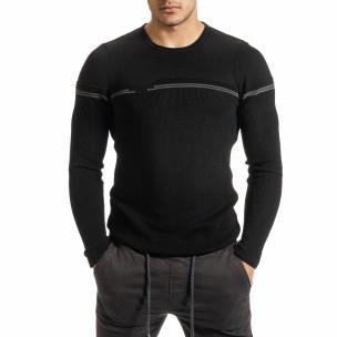 Пуловер с декоративна платка