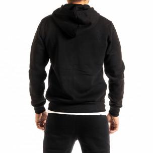 Мъжки черен суичър с цип New York  2