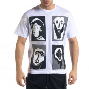 Мъжка тениска с графичен принт Oversize