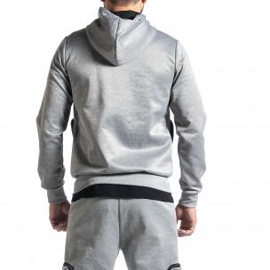 Мъжки сив суичър Cagro style 2