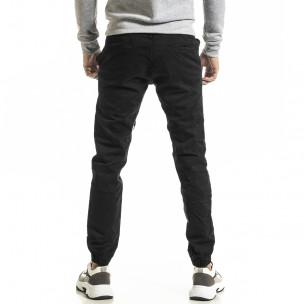 Мъжки черен панталон Jogger  2